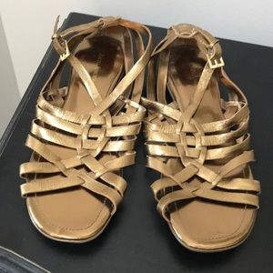 Gold Enzo Angioloni Braided Flats